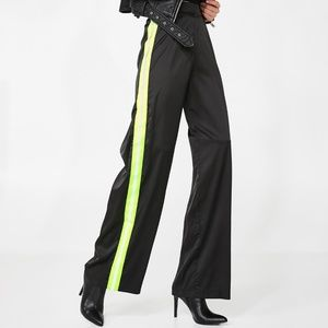 NWT Neon green I AM GIA maxwell pant
